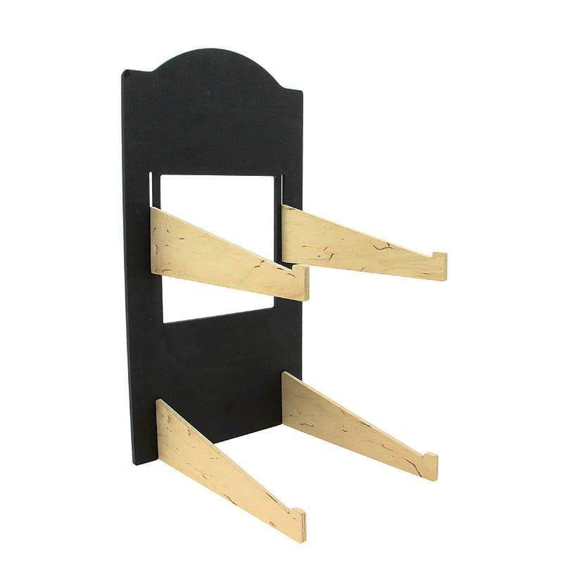 Presentoir bois noir contador haut pour corbeille ou manne - par 1