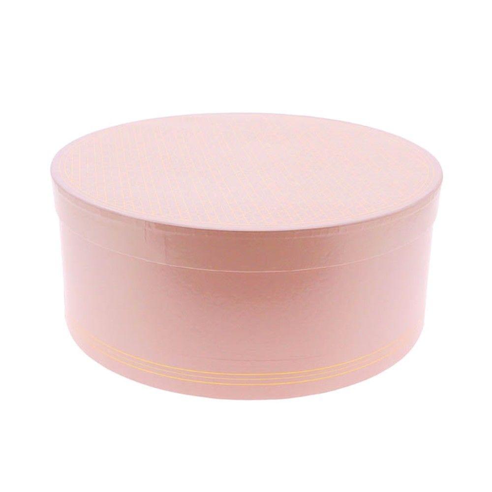 Boite a chapeau carton ronde candy mm - par 8