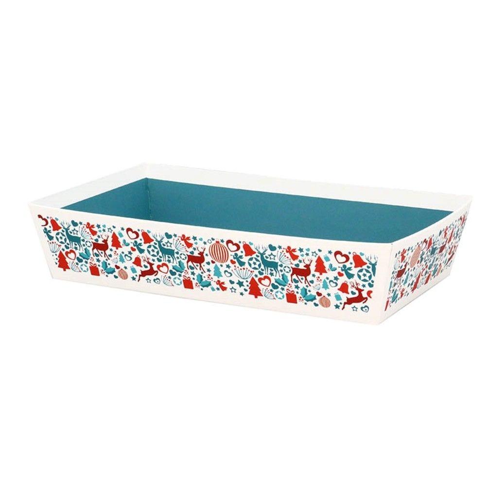 Corbeille rectangle carton laponie mm - par 30