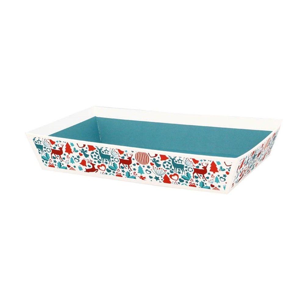 Corbeille rectangle carton laponie pm - par 48