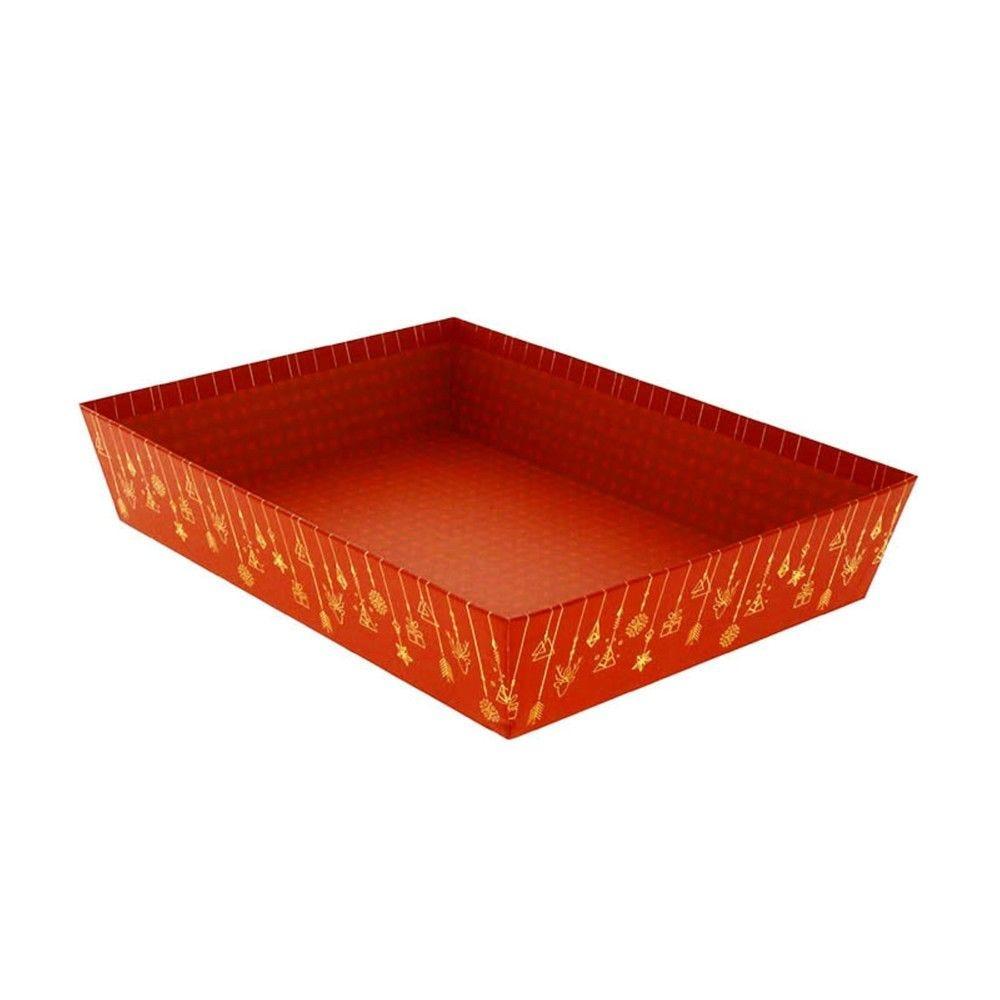 Corbeille rectangle carton christmas gm - par 30