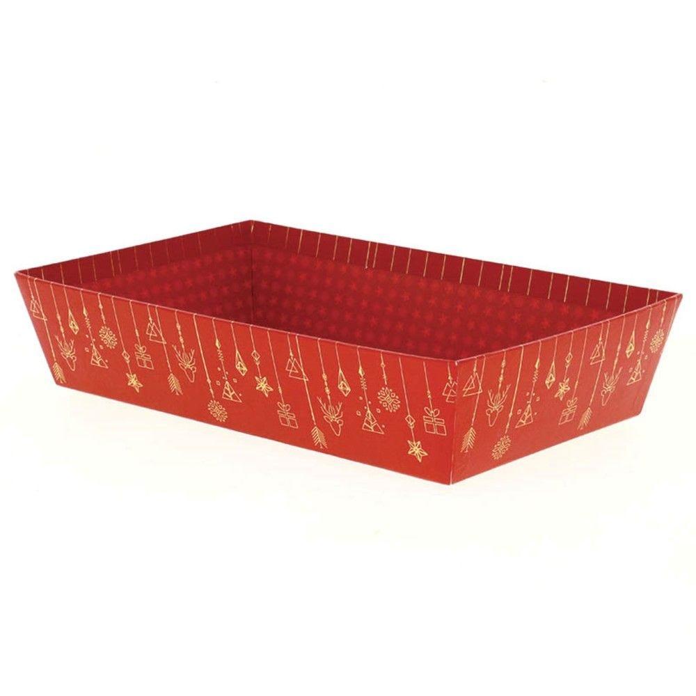 Corbeille rectangle carton christmas mm - par 30