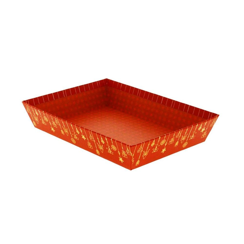 Corbeille rectangle carton christmas pm - par 48