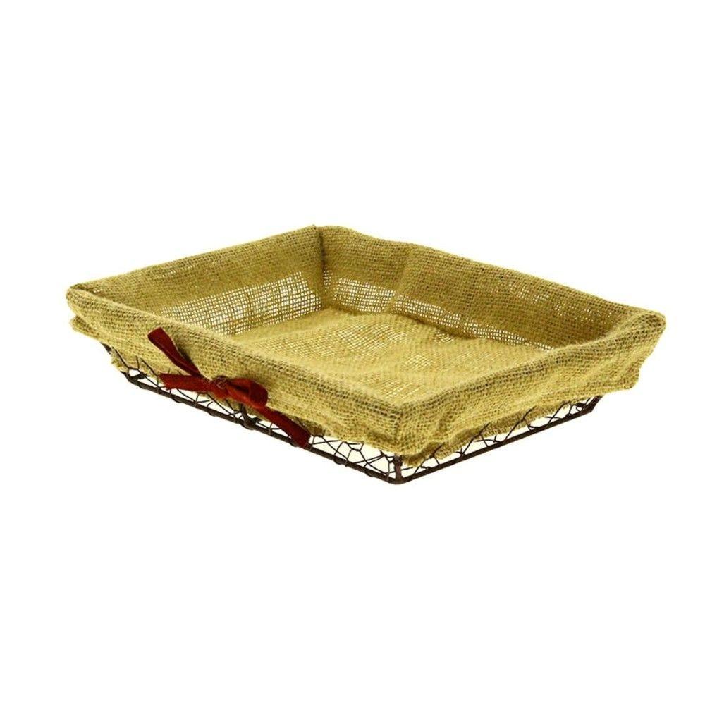Corbeille rectangle metal tissu charlotte pm - par 40