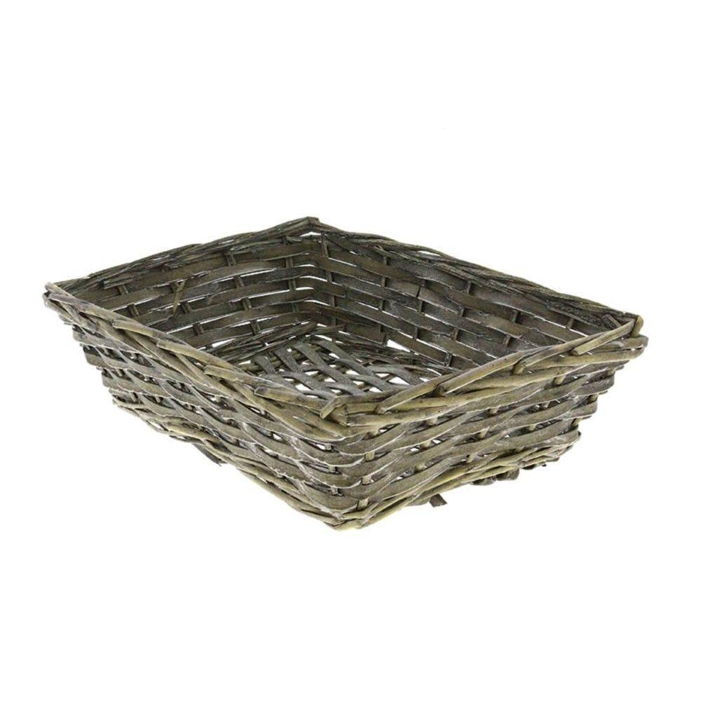 Corbeille rectangle eclisse bois tissu jadis - par 60
