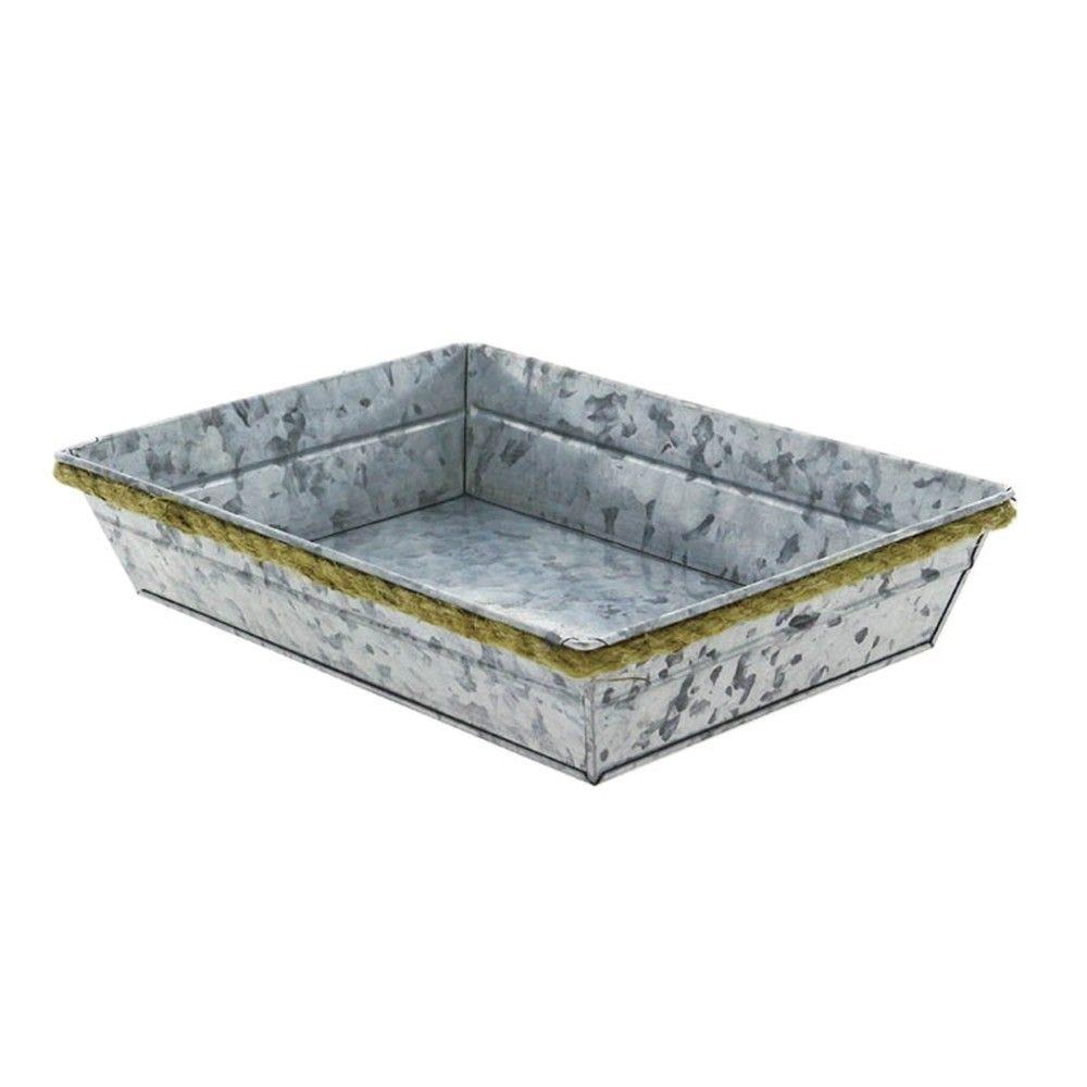Corbeille rectangle metal zinky pm - par 38