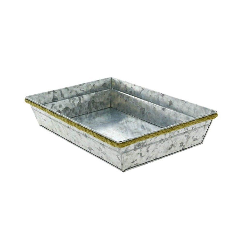 Corbeille rectangle metal zinky mm - par 38
