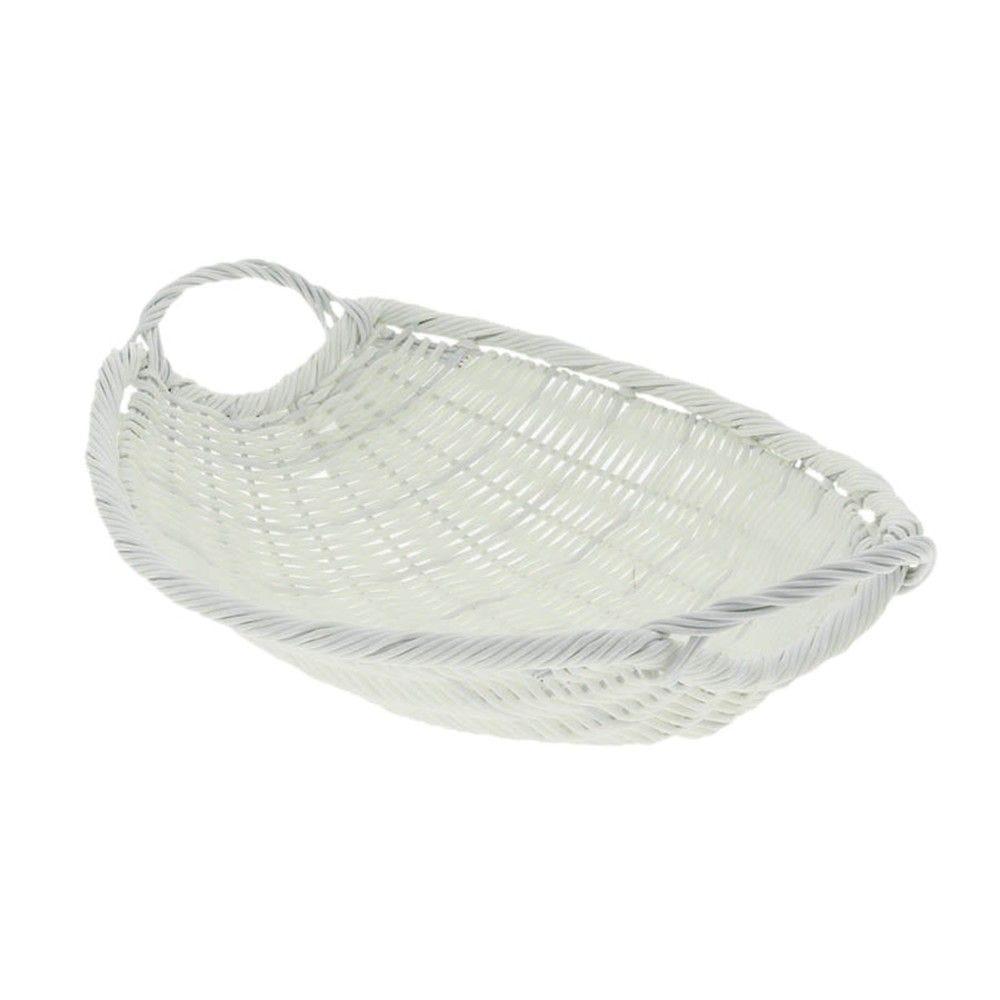 Fruitiere polypropylene blanc blanca ovale couleur - blanc - par 20