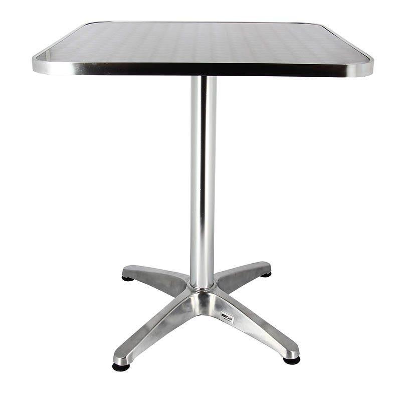 Mange debout coloris aluminium carré 60x60 cm et hauteur 110 cm (photo)