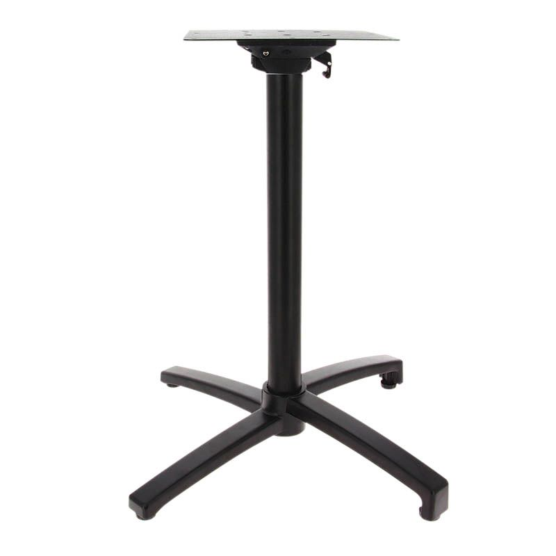 Piètement de table encastrable et rabatable calvi noir h72 cm (photo)