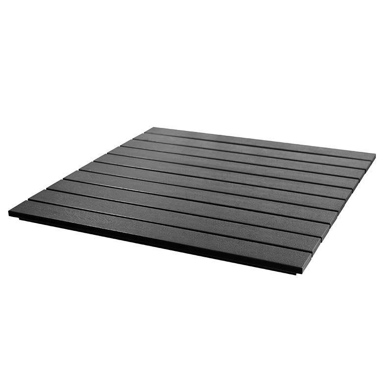Plateau carré 70x70 cm épaisseur 2,5 cm bruges coloris gris anthracite. (photo)