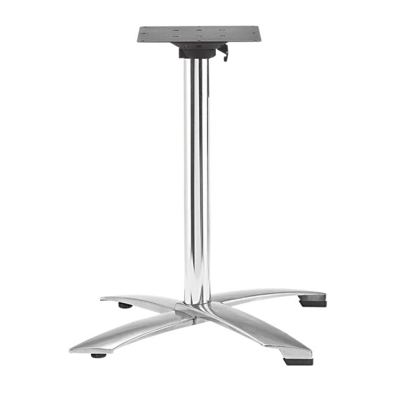 Piètement de table encastrable et rabatable ugine polish h72 cm (photo)