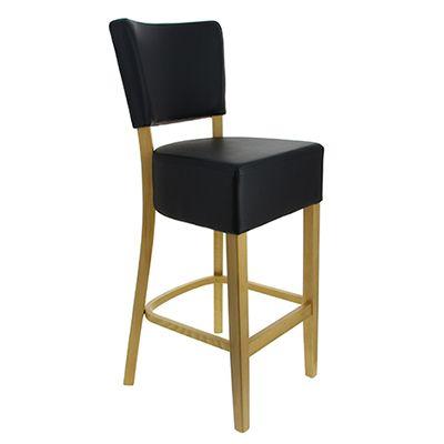 Chaise haute amsterdam noir grainé (photo)