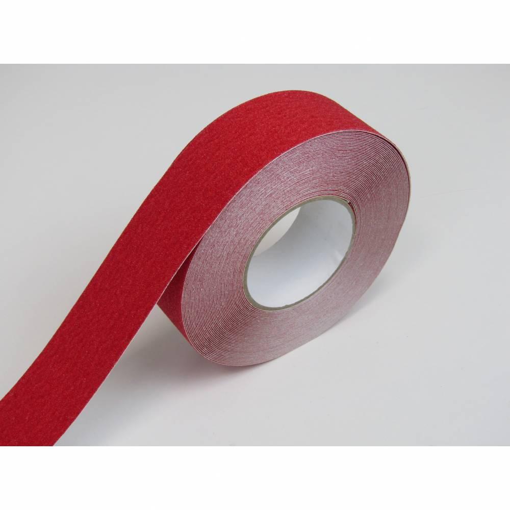 Nez de marche en rouleau adhésif coloris rouge - rouleau de 10 m.