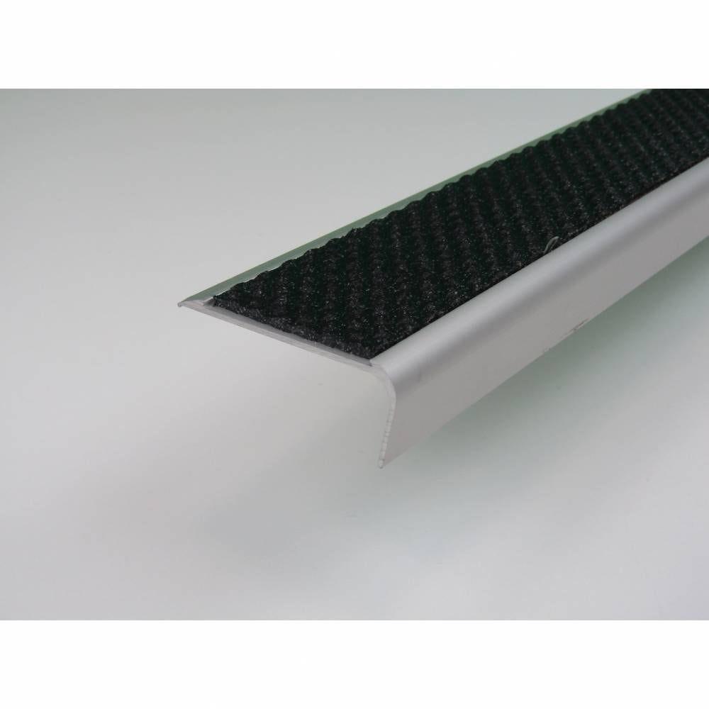 Nez de marche en profil aluminium en coloris noir