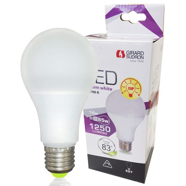 Ampoule led e27 14w 1250lm standard dimmable girard sudron (photo)