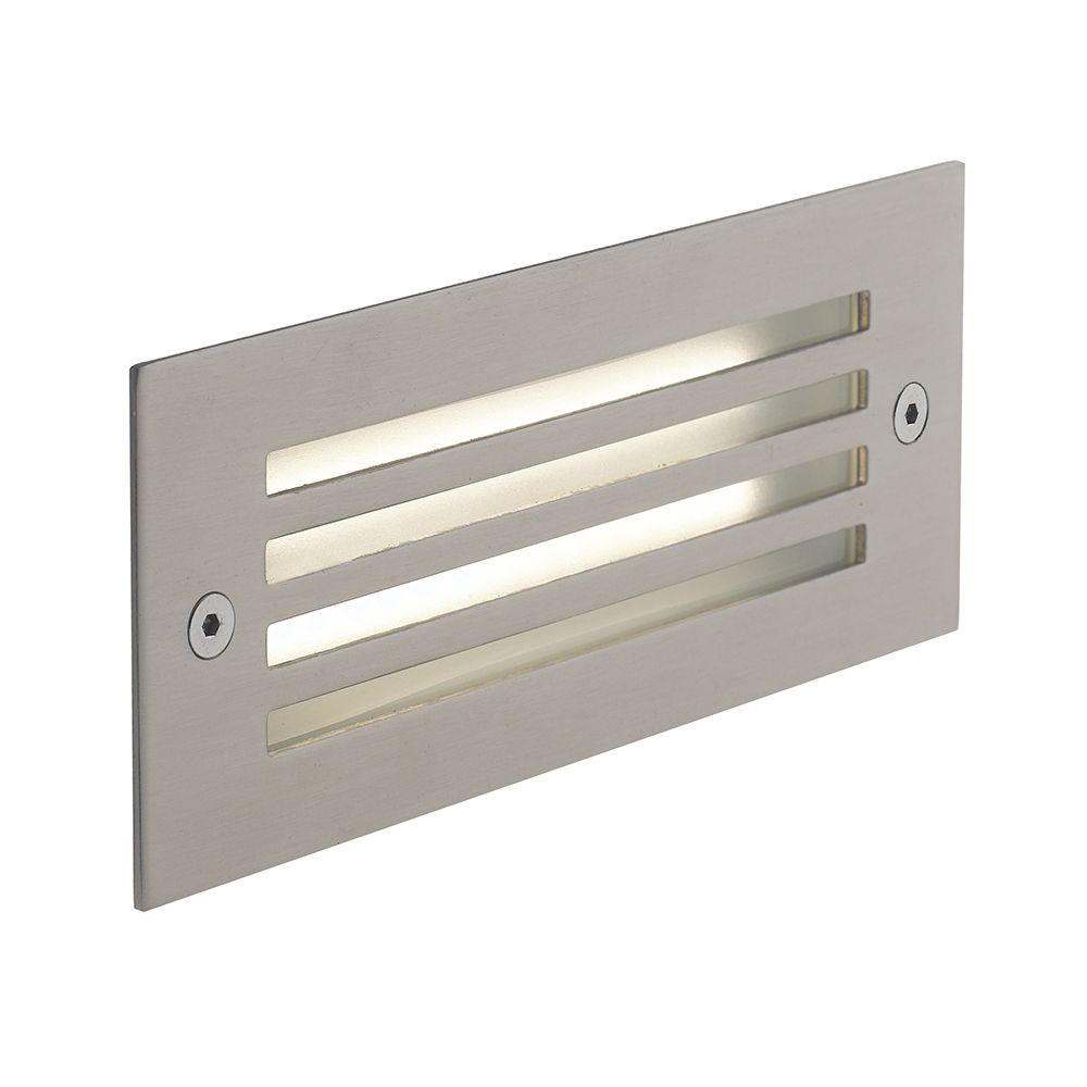 Encastré led bolt rectangulaire 6w 480lm 17x7cm 4000k 120° ip54 alu + grille (photo)