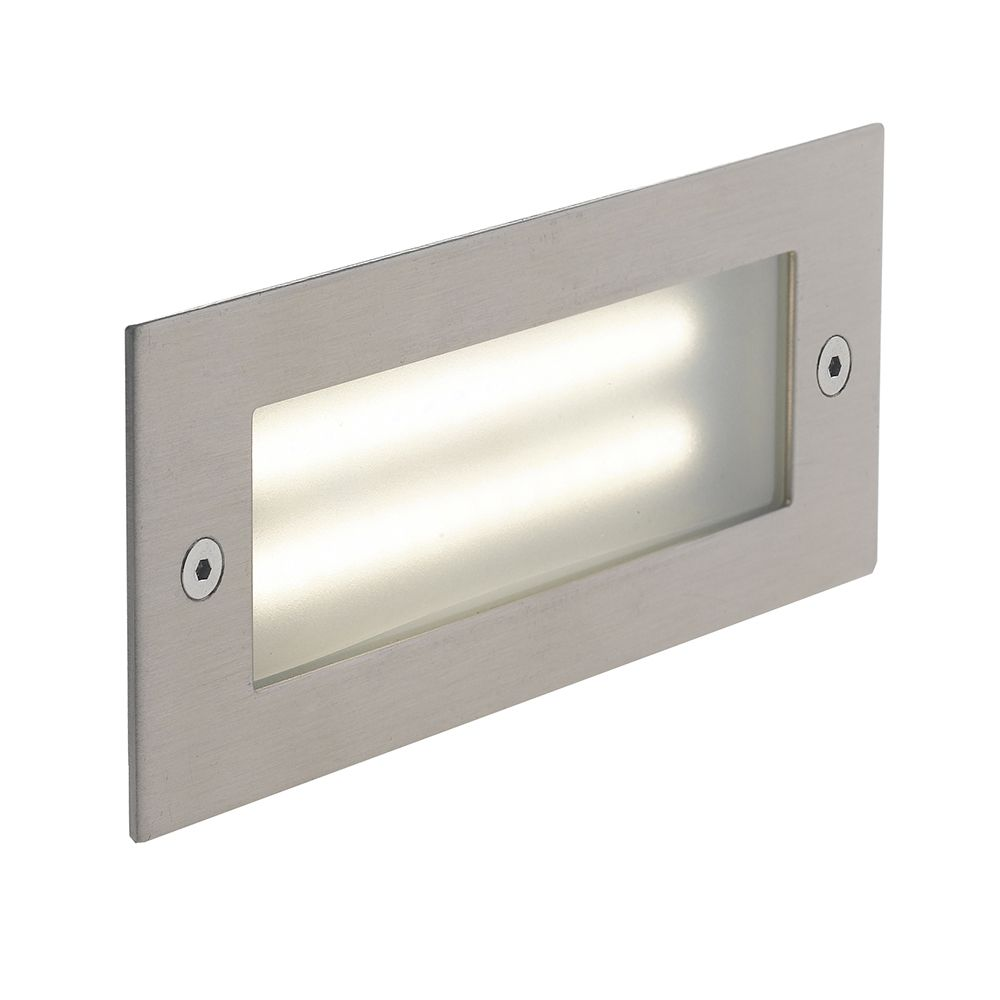 Encastré led bolt rectangulaire 6w 480lm 17x6,8cm 4000k 120° ip54 aluminium (photo)