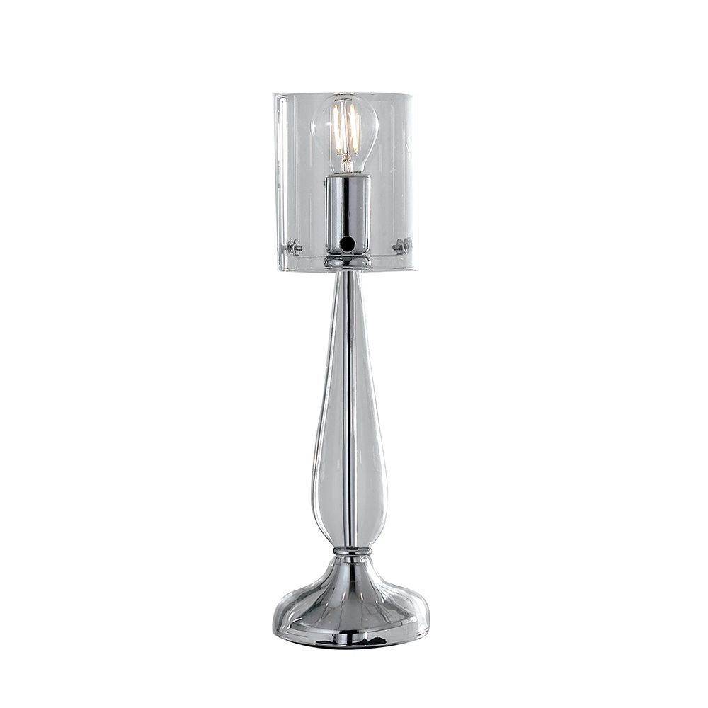 Lampe à poser aurora 1xe14 ø12cm verre transparent (photo)