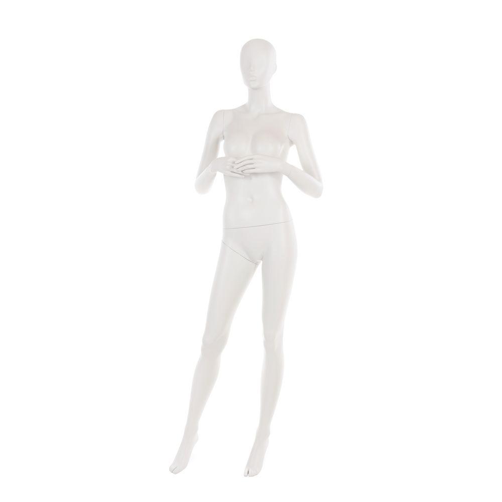 Mannequin femme, tête abstraite, gris clair
