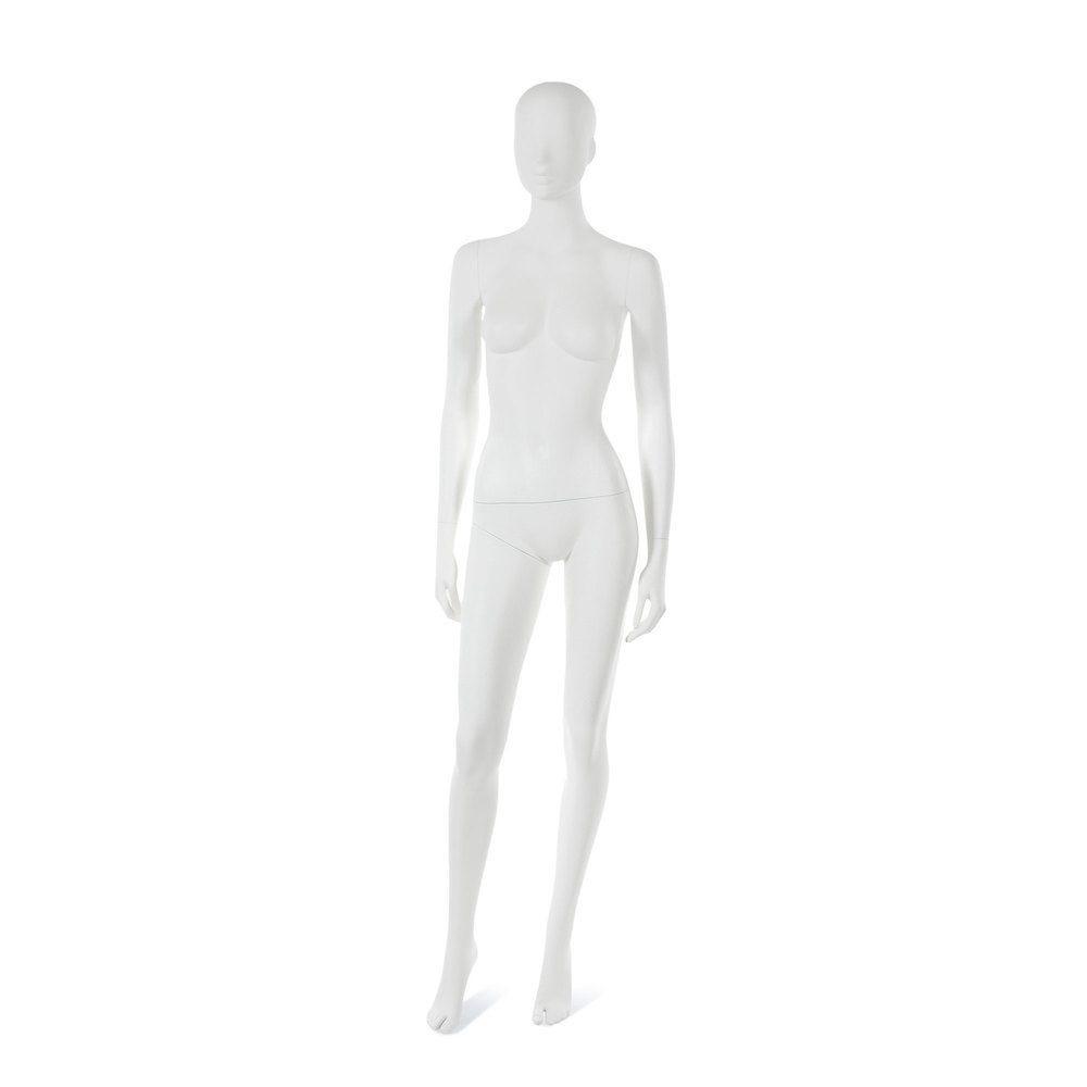 Mannequin femme visage interchangeable blanc, pose 13