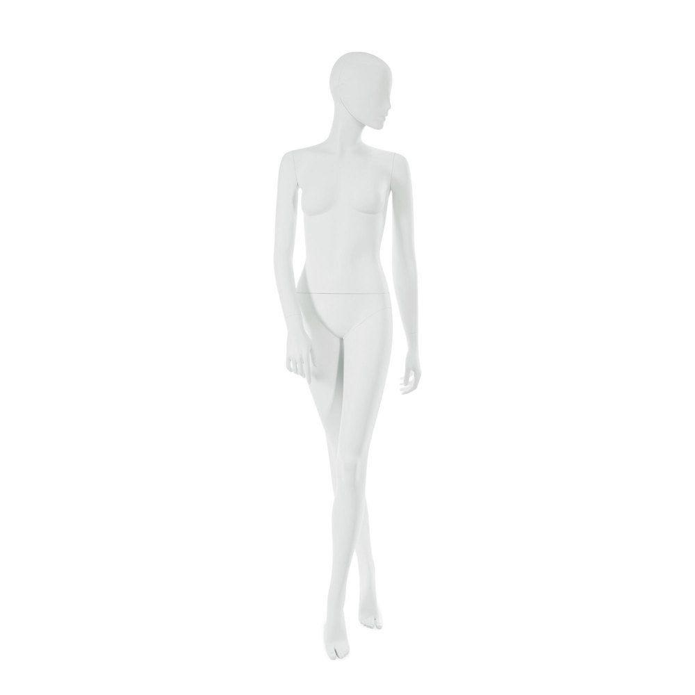 Mannequin femme visage interchangeable blanc, pose 14