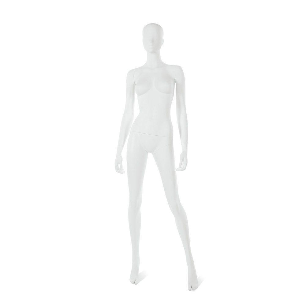 Mannequin femme visage interchangeable blanc, pose 16