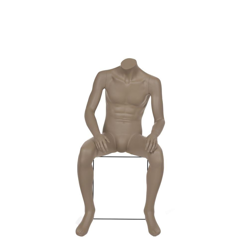 Mannequin homme sans tête, gris beige