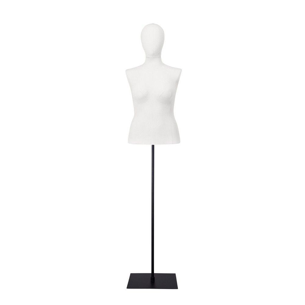 Buste femme blanc, couture, socle noir, set 603