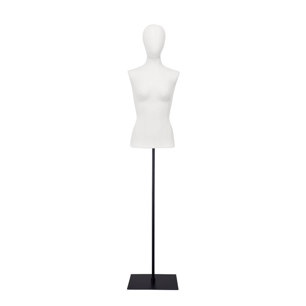 Buste femme blanc, couture, socle noir, set 903