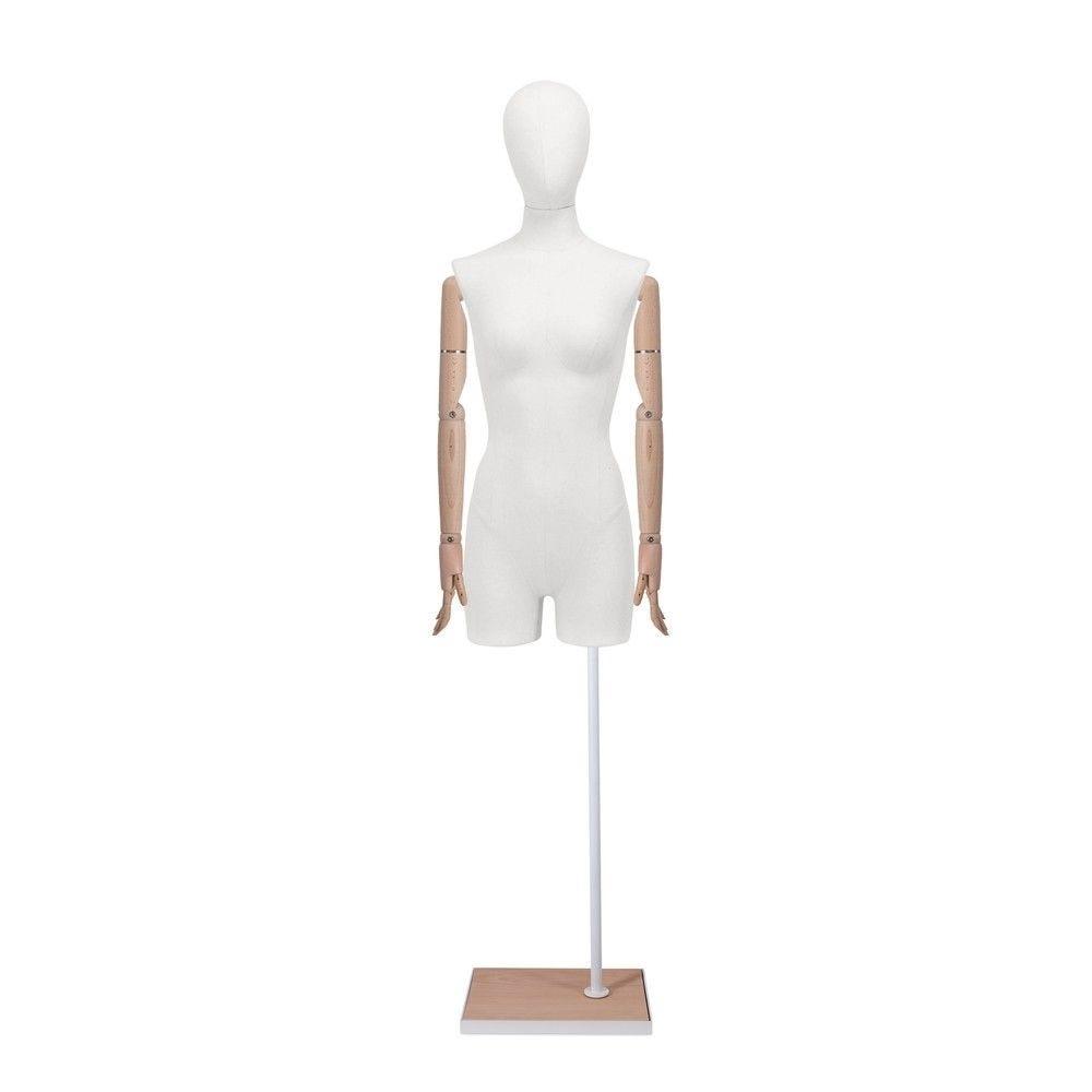 Buste femme avec jambes et bras, tissu blanc,socle, set 904