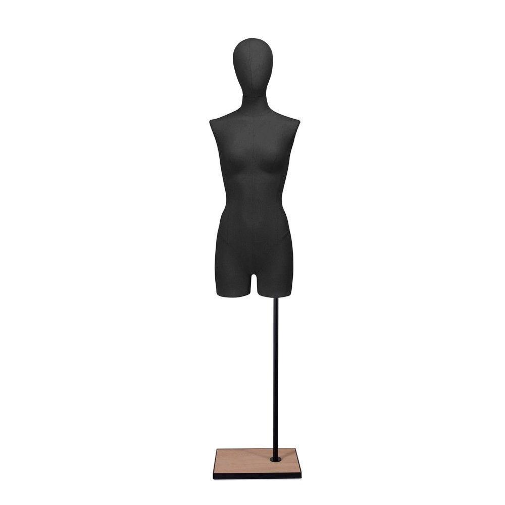 Buste femme avec jambes, tissu noir, socle, set 908