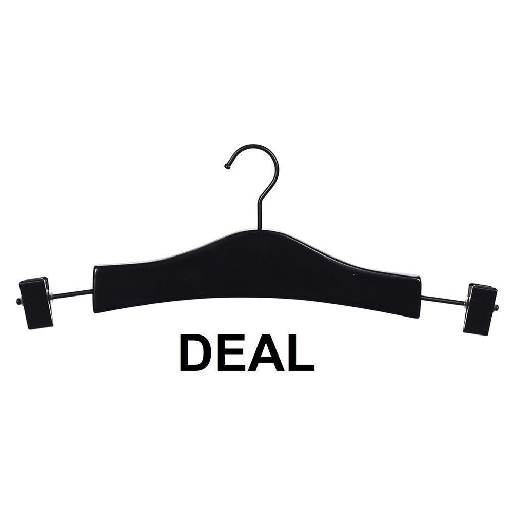 Cintre pinces pour sous-vêtements 30 cm noir mat crochet - X300 - DEAL