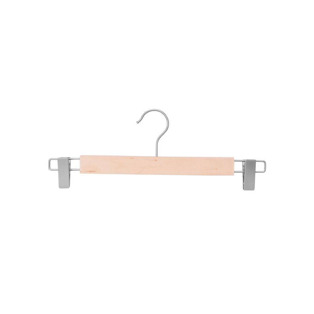 Cintre pinces en nickel, bois de Lotus vernis mat - 34 cm - par 100