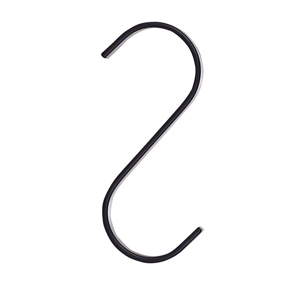 Crochet S forme plat noir 11 cm 30 unités - DEAL X 28