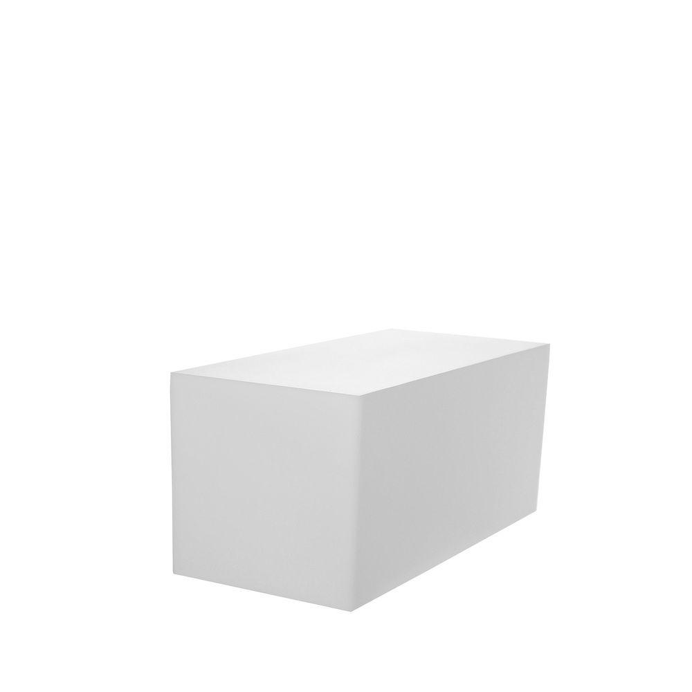 Cube coloris blanc opale en pvc 30 x 40 cm et hauteur 30 cm (photo)