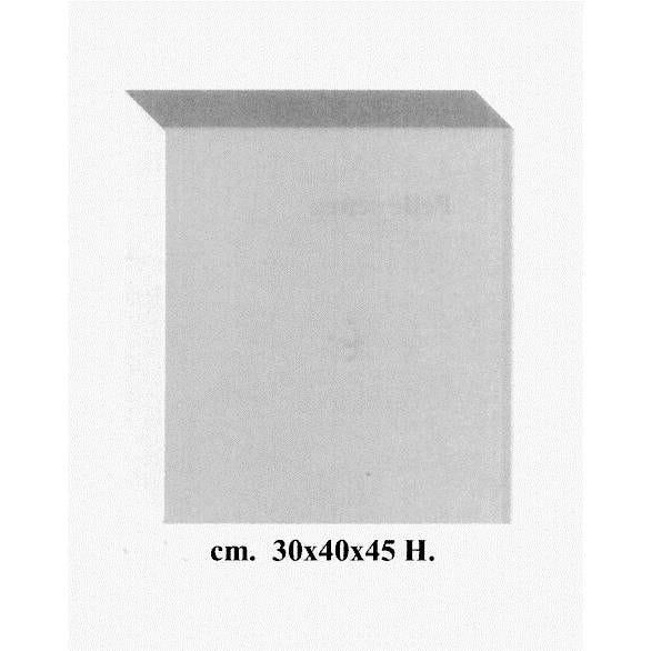 Cube coloris blanc opale en pvc 30 x 40 cm et hauteur 45 cm (photo)