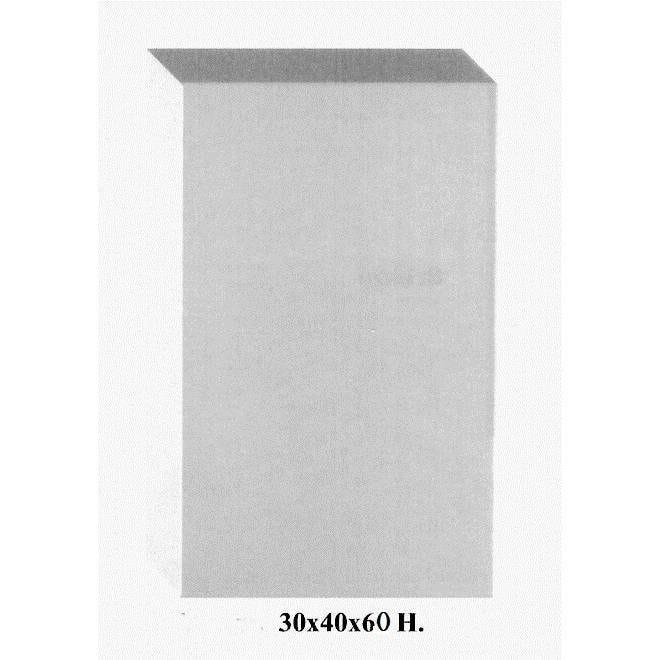 Cube coloris blanc opale en pvc 30 x 40 cm et hauteur 60 cm (photo)