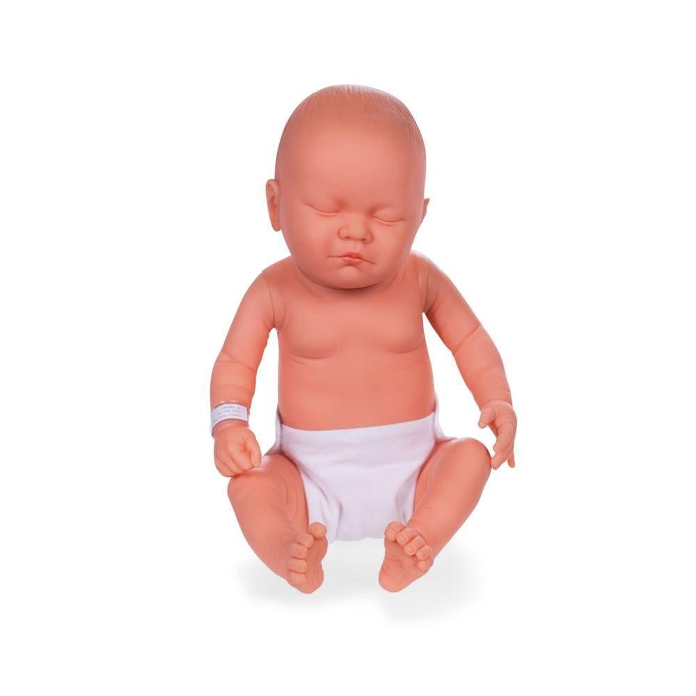 Mannequin bébé garçon qualité vinyle collection baby dolls couleur chair blanc (photo)