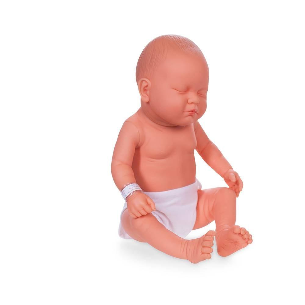 Mannequin bébé fille qualité vinyle collection baby dolls couleur chair blanc (photo)