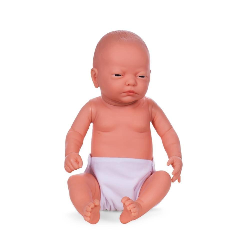 Mannequin bébé fille qualité vinyle coll. Baby dolls couleur chair blanc (photo)