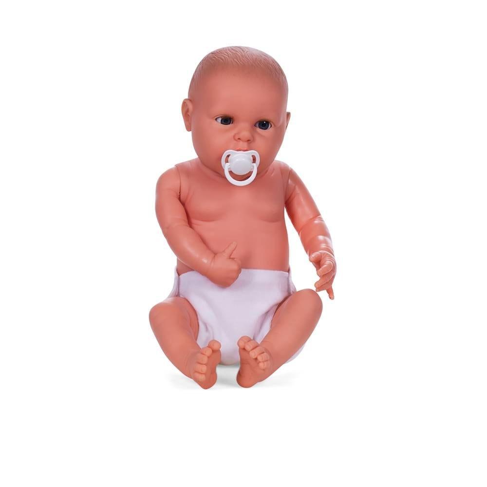 Mannequin bébé fille qualité vinyle coll. Baby dolls coloris chair blanc (photo)