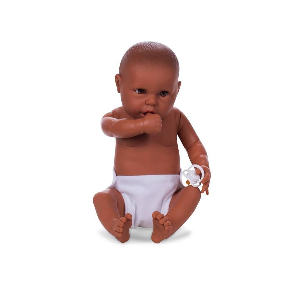 Mannequin bébé fille qualité vinyle collection baby dolls chair brun clair (photo)