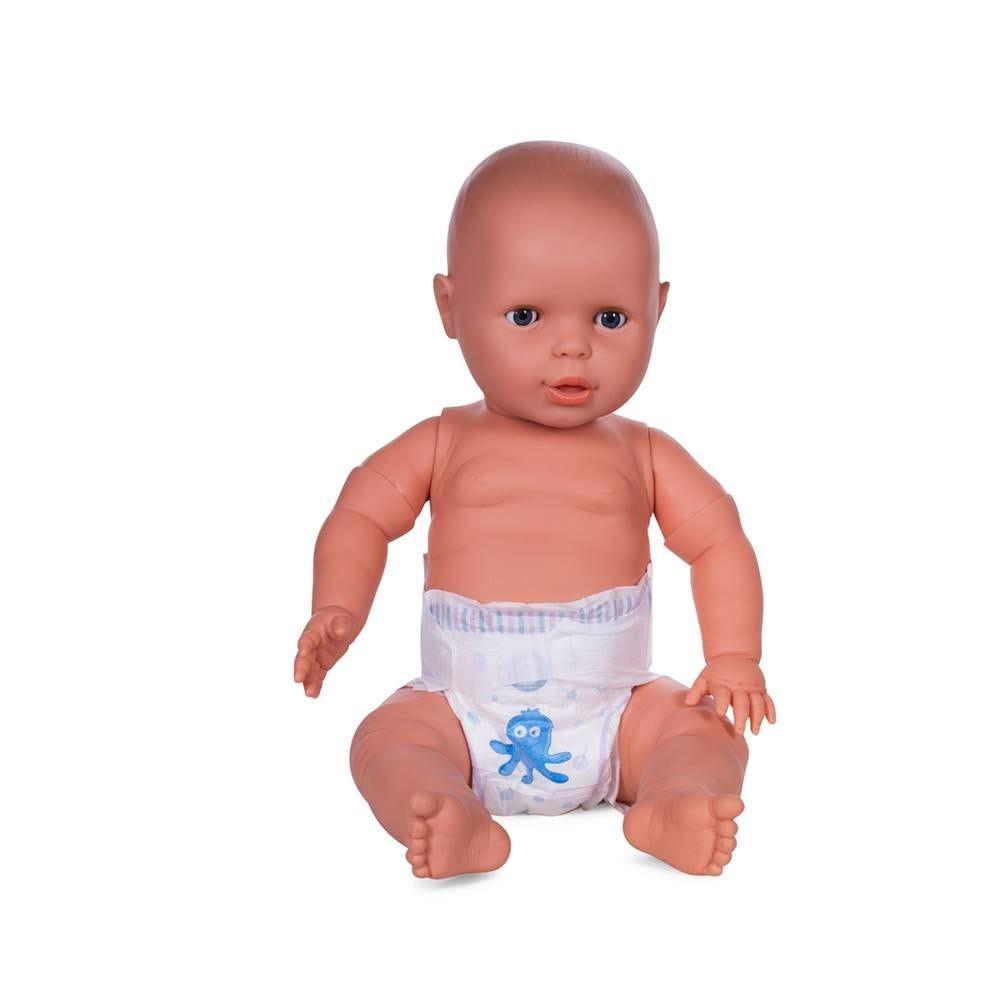 Mannequin bébé 6 mois qualité vinyle collection baby dolls couleur chair blanc (photo)