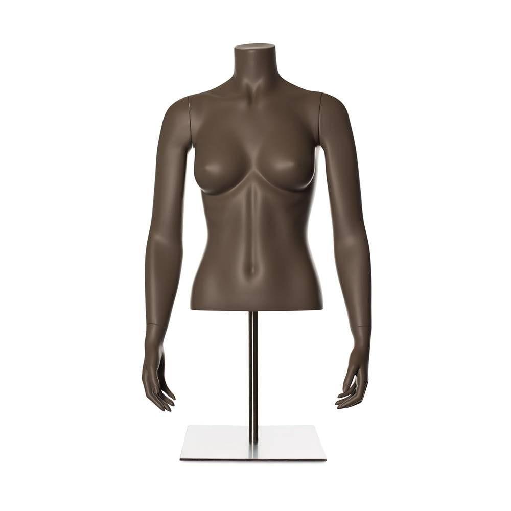 Torse femme fibre de verre couleur beige gris mat inclus socle