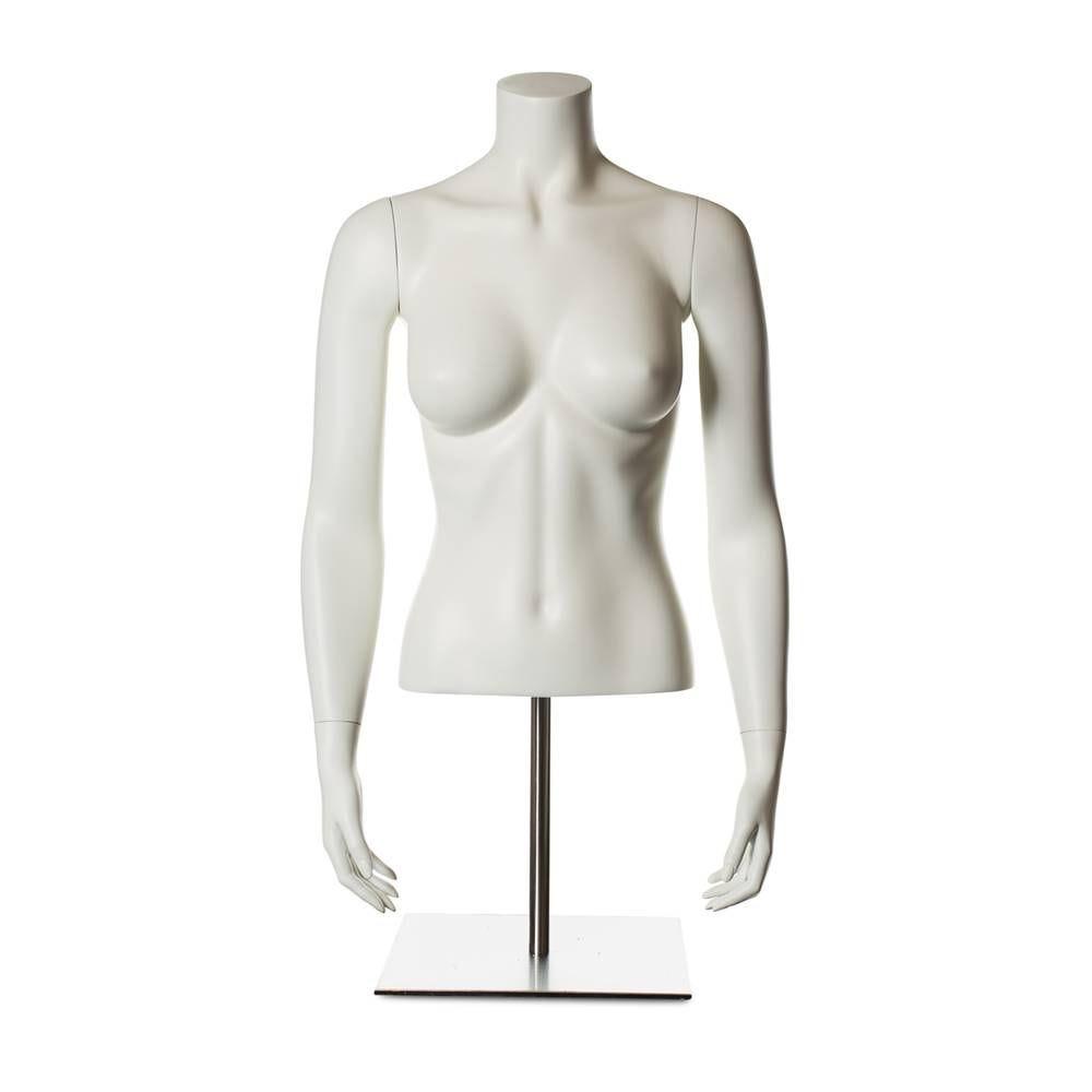 Torse femme avec bras fibre de verre couleur blanc ivoire socle compris