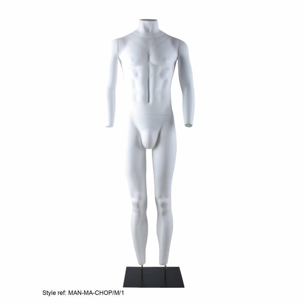 Mannequin homme blanc avec socle pour photographie produit (photo)