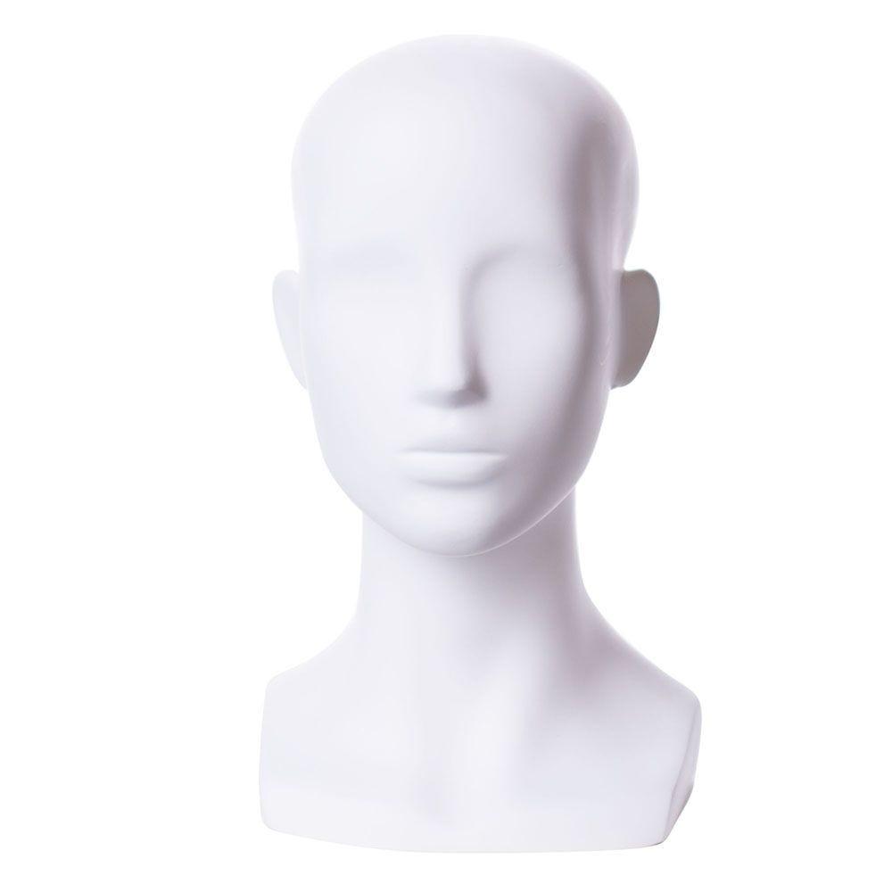 Tête femme abstraite stylisée frp couleur blanc