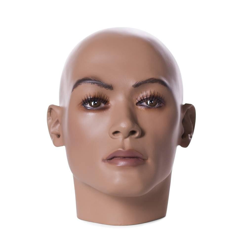 Tête homme réaliste de couleur chair et maquillage frp (photo)