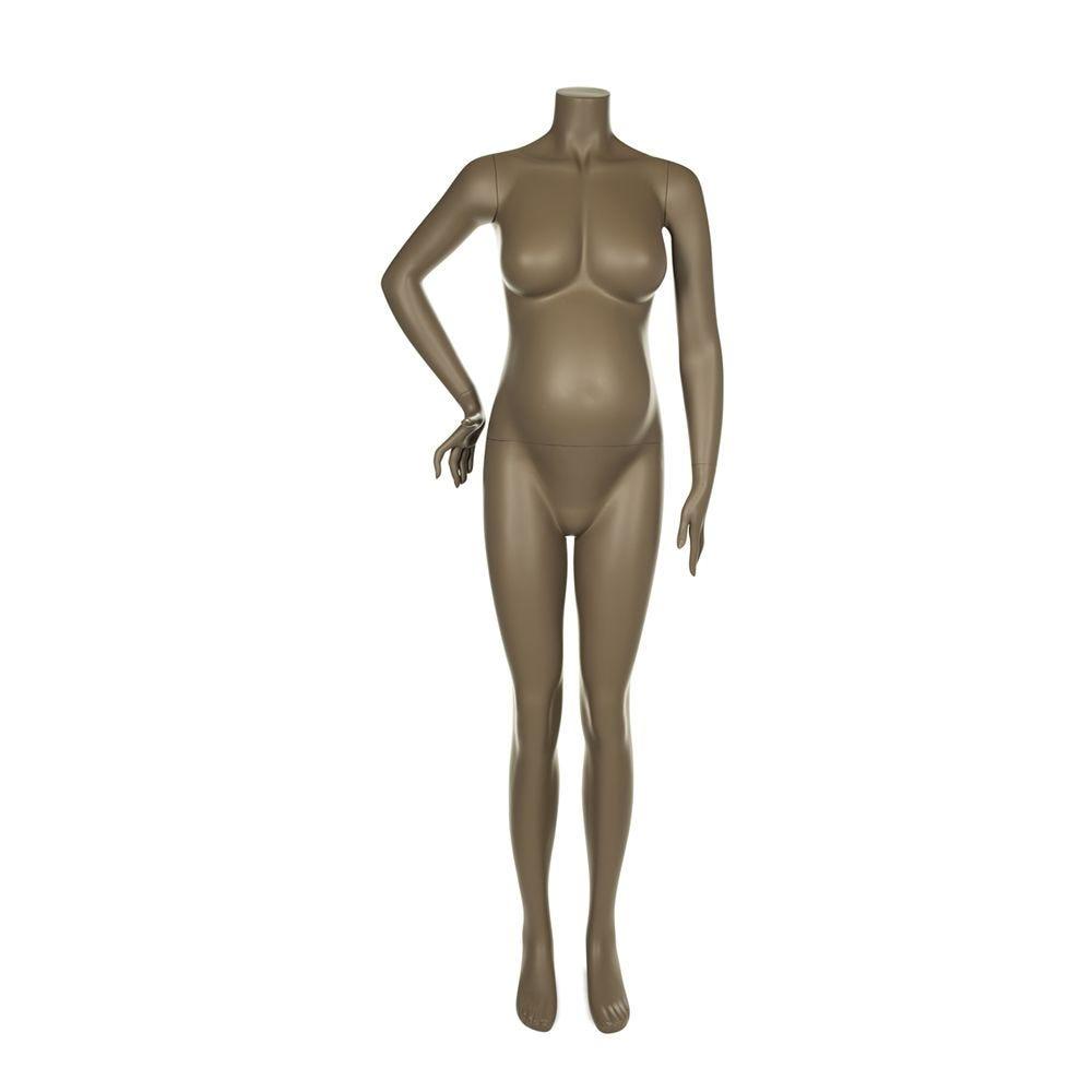 Mannequin femme enceinte qualité supérieure maternity couleur beige gris (photo)